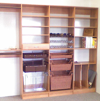 Laminate shelves with accessories