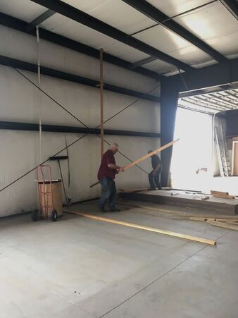Remodeling work has begun to make room for the new brewery.