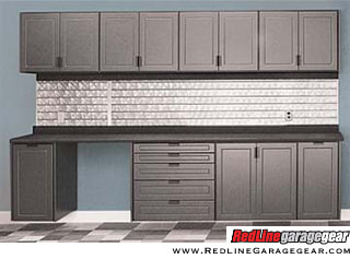 RedLine Garage System Storage Cabinets with Counter Top