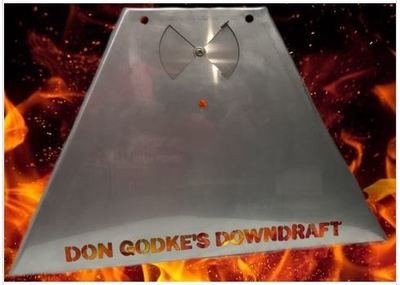 Don Godke's Downdraft for Daniel Boone and Jim Bowie. Adds more smoke flavor and use less pellets.